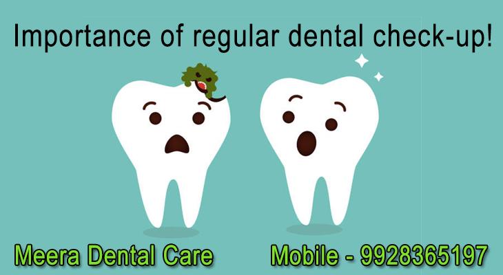Importance of regular dental check-up!